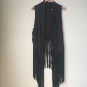 New Blue Life Fringe Rhiannon Vest